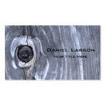 Tarjeta de visita texturizada madera abstracta