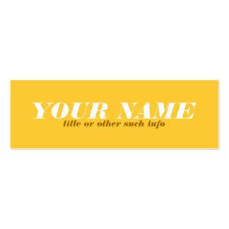 Tarjeta de visita tonal de ocre amarillo