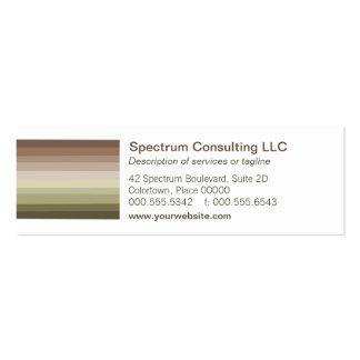 Tarjeta de visita tonal del espectro