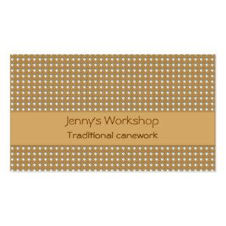 Tarjeta de visita tradicional del tejedor del bast