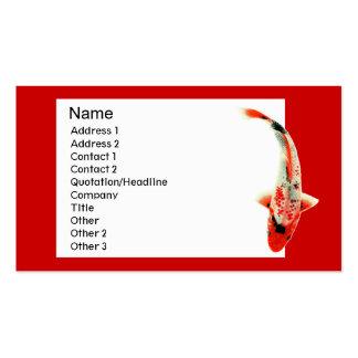 Tarjeta de visita tradicional roja de Koi