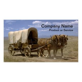 Tarjeta de visita traída por caballo del carro