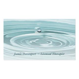 Tarjeta de visita tranquila de Waterdrop