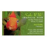 Tarjeta de visita tropical de los pescados