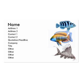 Tarjeta de visita tropical de los pescados del acu