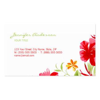 Tarjeta de visita tropical del hibisco