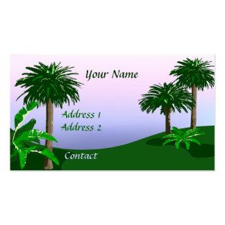 Tarjeta de visita tropical del paisaje