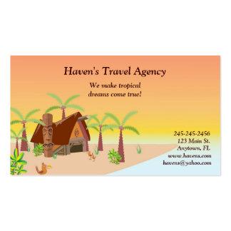 Tarjeta de visita tropical