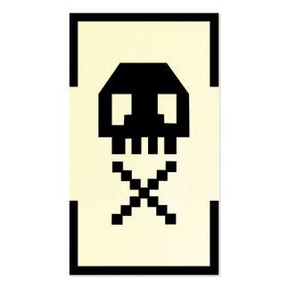 Tarjeta de visita única del cráneo del pixel