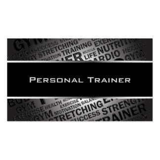 Tarjeta de visita única del instructor personal
