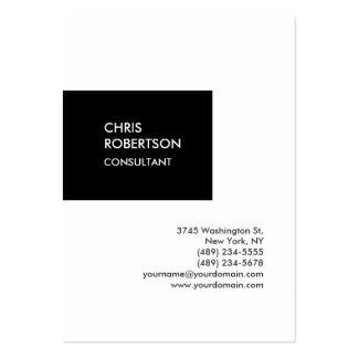 Tarjeta de visita única vertical rechoncha de moda tarjetas de visita grandes