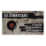 Tarjeta de visita urbana de DJ de la placa girator
