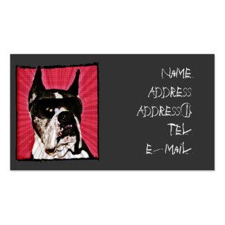 Tarjeta de visita urbana del perro del boxeador