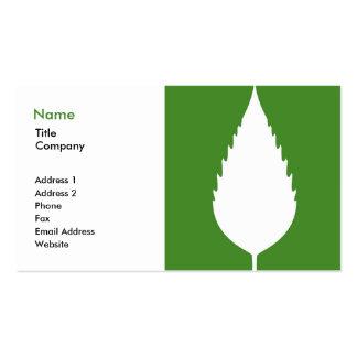 Tarjeta de visita verde 1