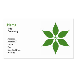 Tarjeta de visita verde 2