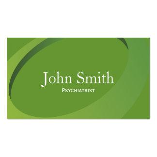 Tarjeta de visita verde abstracta del psiquiatra