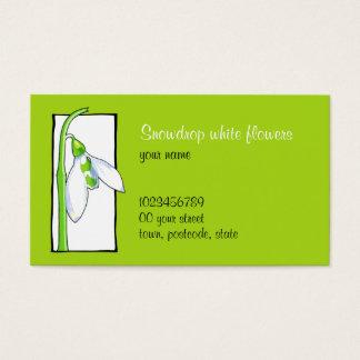 Tarjeta de visita verde blanca del florista de