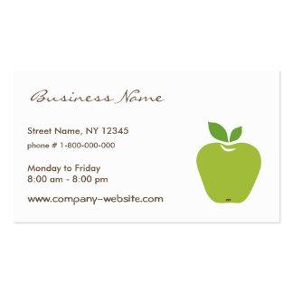 Tarjeta de visita verde de Apple