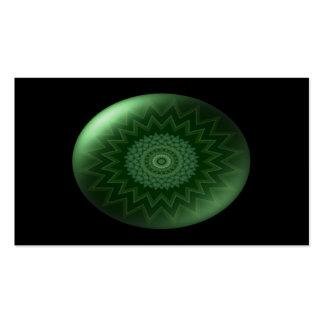 Tarjeta de visita verde de Chakra del corazón