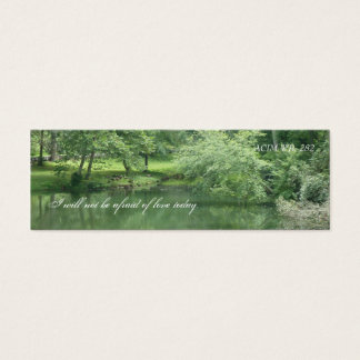 Tarjeta de visita verde de la belleza