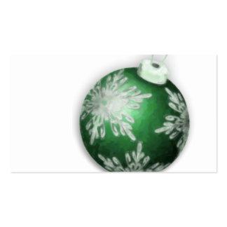 Tarjeta de visita verde de la etiqueta del regalo