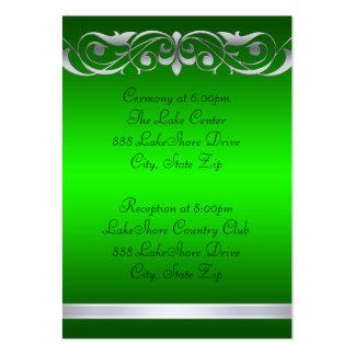 Tarjeta de visita verde de la grande duquesa huésp
