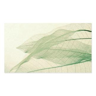 tarjeta de visita verde de los esqueletos de la ho