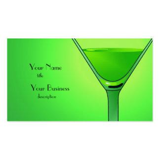 Tarjeta de visita verde del cóctel de Martini