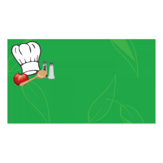 Tarjeta de visita verde del gorra