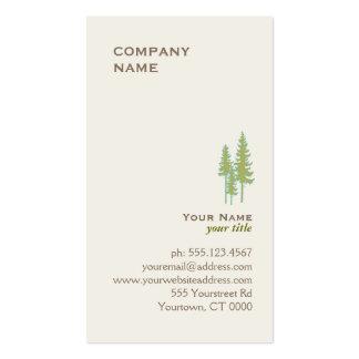 Tarjeta de visita verde del logotipo de los árbole