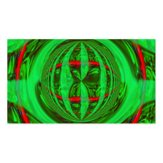 Tarjeta de visita verde del orbe