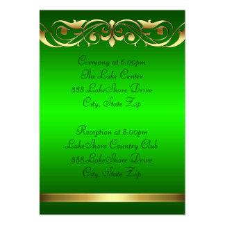Tarjeta de visita verde del oro de la grande duque