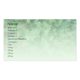 Tarjeta de visita verde del perfil de la hiedra