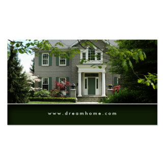 Tarjeta de visita verde elegante de la casa de las