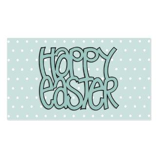 Tarjeta de visita verde feliz de Pascua