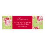 Tarjeta de visita verde flaca de los rosas elegant