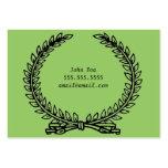 Tarjeta de visita verde oliva de la guirnalda