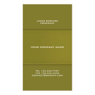 Tarjeta de visita verde oliva del verde del color