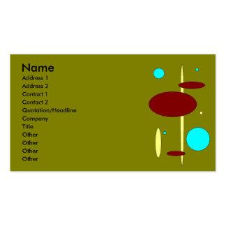 Tarjeta de visita verde oliva retra del Bebop