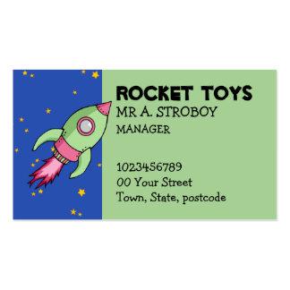 Tarjeta de visita verde rosada de Rocket