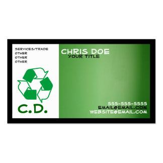 tarjeta de visita verde