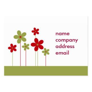 tarjeta de visita verde y roja moderna