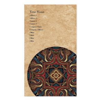 Tarjeta de visita vertical de la mandala de