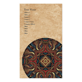 Tarjeta de visita vertical de la mandala de acríli