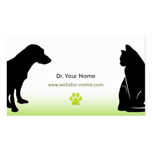 Tarjeta de visita veterinaria