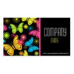 Tarjeta de visita vibrante de las mariposas