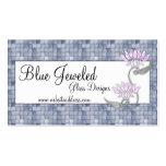 Tarjeta de visita:: Vidrio azul y Jeweled
