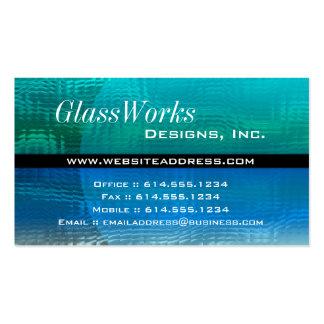 Tarjeta de visita:: Vidrio azul y verde moderno