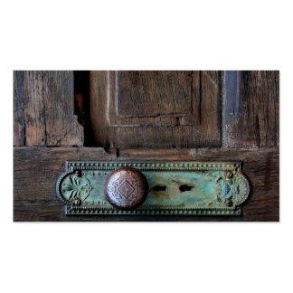 Tarjeta de visita vieja del botón de puerta 3,5 x