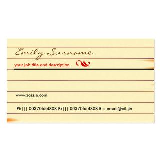 tarjeta de visita vieja del papel marrón